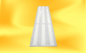 white tactile pad with white strips
