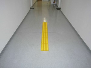 yellow tactile pad with yellow strips