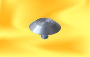 Knoflíky AL-21 kružnice boční pohled s kolíkem