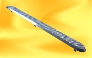 nerezový vodící pásek s diamantovým vzorem s kolíky