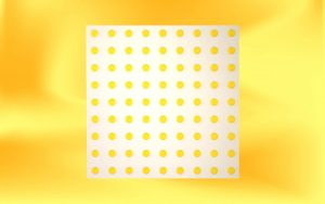 White warning pad with yellow studs