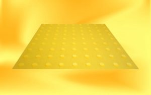 Yellow warning pad with yellow studs